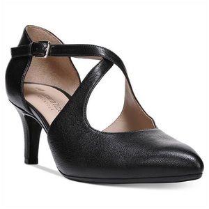 Naturalizer N5 Contour Black Leather Okira Pumps
